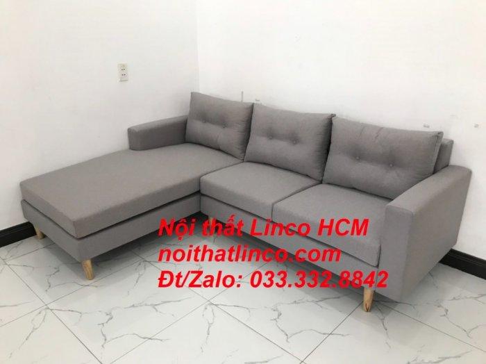 Bộ ghế sofa góc L màu xám ghi trắng, sofa góc giá rẻ nhỏ | Nội thất Linco Tphcm HCM Hồ Chí Minh Sài Gòn9