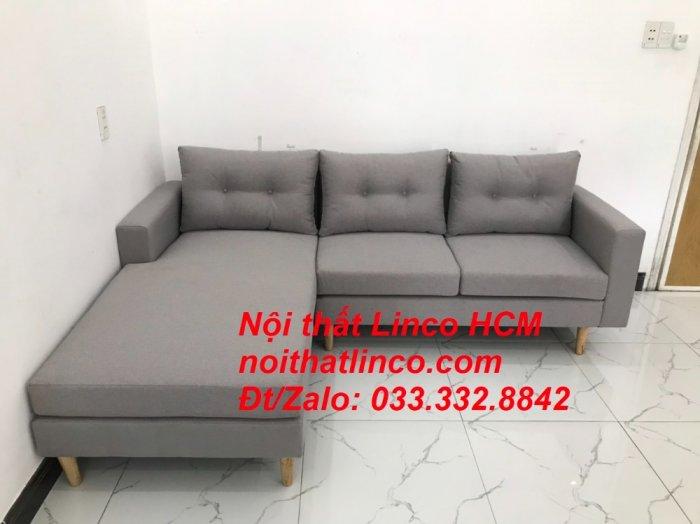 Bộ ghế sofa góc L màu xám ghi trắng, sofa góc giá rẻ nhỏ | Nội thất Linco Tphcm HCM Hồ Chí Minh Sài Gòn8