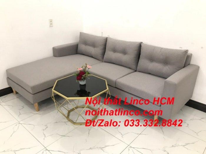 Bộ ghế sofa góc L màu xám ghi trắng, sofa góc giá rẻ nhỏ | Nội thất Linco Tphcm HCM Hồ Chí Minh Sài Gòn7