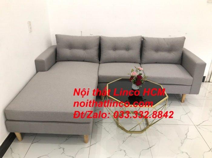 Bộ ghế sofa góc L màu xám ghi trắng, sofa góc giá rẻ nhỏ | Nội thất Linco Tphcm HCM Hồ Chí Minh Sài Gòn6