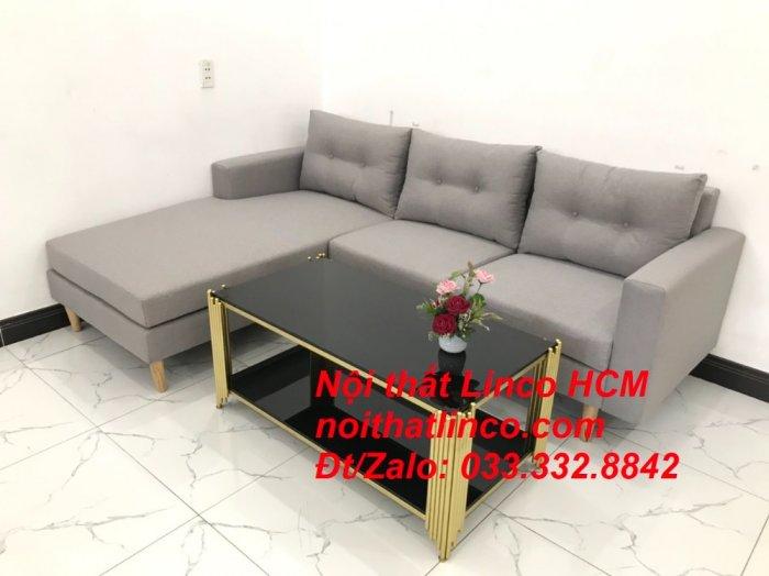 Bộ ghế sofa góc L màu xám ghi trắng, sofa góc giá rẻ nhỏ | Nội thất Linco Tphcm HCM Hồ Chí Minh Sài Gòn5