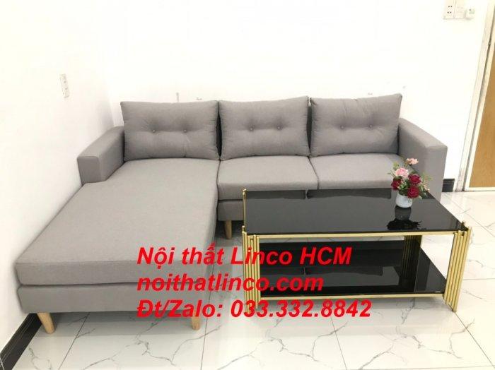 Bộ ghế sofa góc L màu xám ghi trắng, sofa góc giá rẻ nhỏ | Nội thất Linco Tphcm HCM Hồ Chí Minh Sài Gòn4