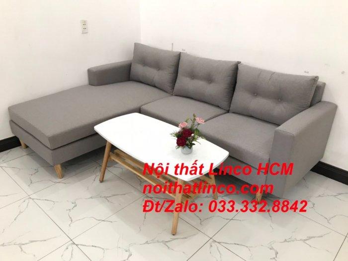 Bộ ghế sofa góc L màu xám ghi trắng, sofa góc giá rẻ nhỏ | Nội thất Linco Tphcm HCM Hồ Chí Minh Sài Gòn3