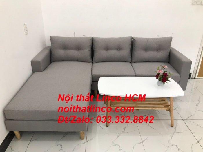 Bộ ghế sofa góc L màu xám ghi trắng, sofa góc giá rẻ nhỏ | Nội thất Linco Tphcm HCM Hồ Chí Minh Sài Gòn2