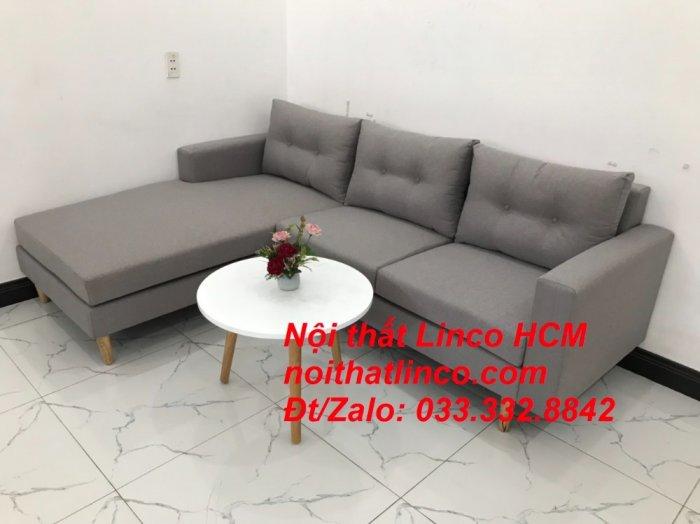 Bộ ghế sofa góc L màu xám ghi trắng, sofa góc giá rẻ nhỏ | Nội thất Linco Tphcm HCM Hồ Chí Minh Sài Gòn1