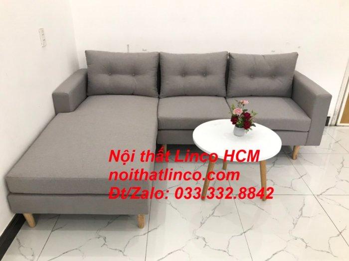 Bộ ghế sofa góc L màu xám ghi trắng, sofa góc giá rẻ nhỏ | Nội thất Linco Tphcm HCM Hồ Chí Minh Sài Gòn0