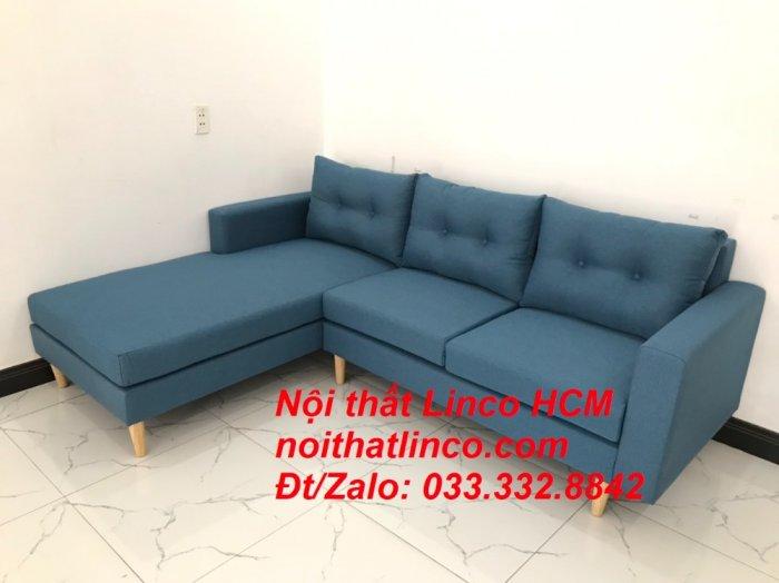 Bộ ghế sofa góc phòng khách   Sofa góc L xanh dương giá rẻ   Nội thất Linco HCM Tphcm Hồ Chí Minh Sài Gòn SG9