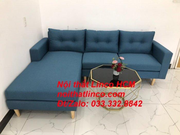 Bộ ghế sofa góc phòng khách   Sofa góc L xanh dương giá rẻ   Nội thất Linco HCM Tphcm Hồ Chí Minh Sài Gòn SG6