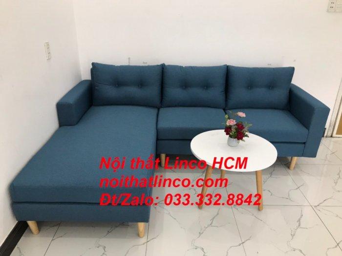 Bộ ghế sofa góc phòng khách   Sofa góc L xanh dương giá rẻ   Nội thất Linco HCM Tphcm Hồ Chí Minh Sài Gòn SG0