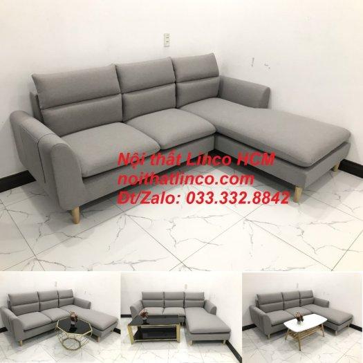 Sofa góc giá rẻ | Ghế sofa góc L xám trắng đẹp giá rẻ nhỏ | Nội thất Linco Tphcm HCM Sài Gòn Hồ Chí Minh SG10