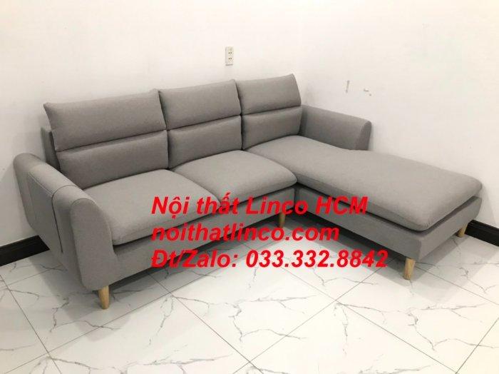 Sofa góc giá rẻ | Ghế sofa góc L xám trắng đẹp giá rẻ nhỏ | Nội thất Linco Tphcm HCM Sài Gòn Hồ Chí Minh SG9