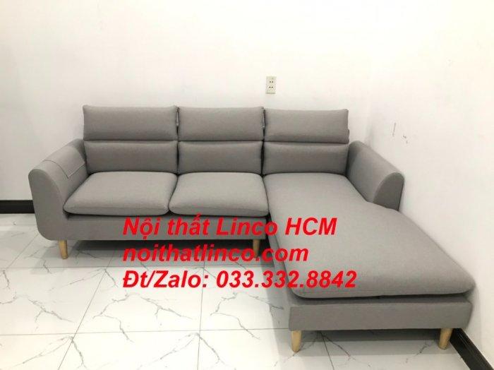 Sofa góc giá rẻ | Ghế sofa góc L xám trắng đẹp giá rẻ nhỏ | Nội thất Linco Tphcm HCM Sài Gòn Hồ Chí Minh SG8