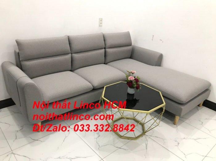 Sofa góc giá rẻ | Ghế sofa góc L xám trắng đẹp giá rẻ nhỏ | Nội thất Linco Tphcm HCM Sài Gòn Hồ Chí Minh SG7