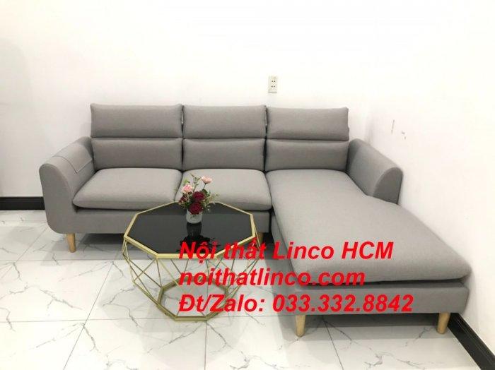 Sofa góc giá rẻ | Ghế sofa góc L xám trắng đẹp giá rẻ nhỏ | Nội thất Linco Tphcm HCM Sài Gòn Hồ Chí Minh SG6