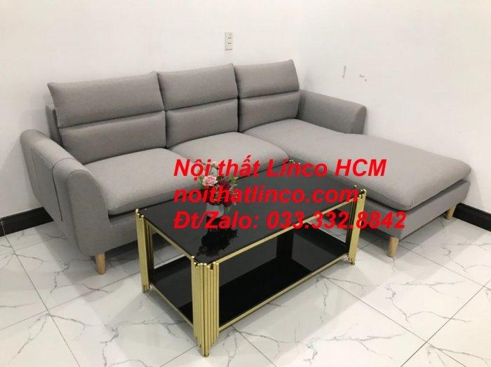 Sofa góc giá rẻ | Ghế sofa góc L xám trắng đẹp giá rẻ nhỏ | Nội thất Linco Tphcm HCM Sài Gòn Hồ Chí Minh SG5