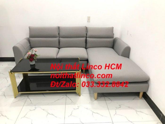 Sofa góc giá rẻ | Ghế sofa góc L xám trắng đẹp giá rẻ nhỏ | Nội thất Linco Tphcm HCM Sài Gòn Hồ Chí Minh SG4