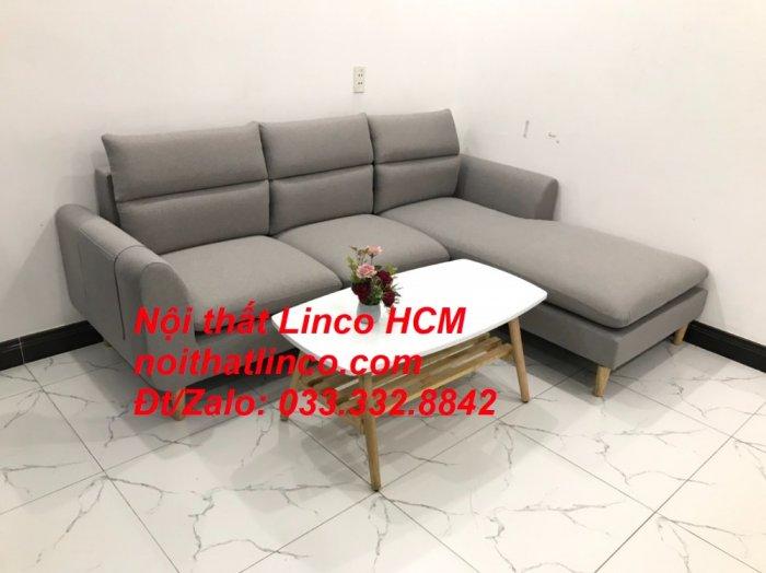 Sofa góc giá rẻ | Ghế sofa góc L xám trắng đẹp giá rẻ nhỏ | Nội thất Linco Tphcm HCM Sài Gòn Hồ Chí Minh SG3