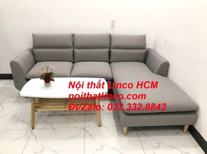 Sofa góc giá rẻ | Ghế sofa góc L xám trắng đẹp giá rẻ nhỏ | Nội thất Linco Tphcm HCM Sài Gòn Hồ Chí Minh SG2