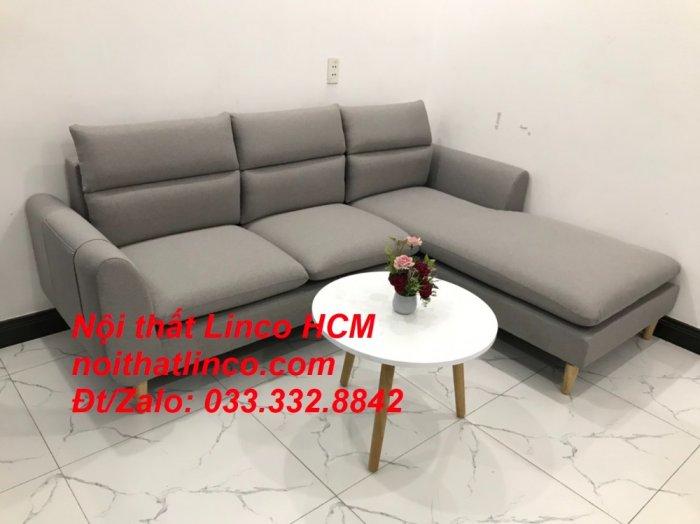 Sofa góc giá rẻ | Ghế sofa góc L xám trắng đẹp giá rẻ nhỏ | Nội thất Linco Tphcm HCM Sài Gòn Hồ Chí Minh SG1