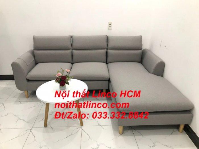 Sofa góc giá rẻ | Ghế sofa góc L xám trắng đẹp giá rẻ nhỏ | Nội thất Linco Tphcm HCM Sài Gòn Hồ Chí Minh SG0