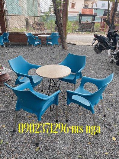 Bàn ghế nhựa lỗ cafe0