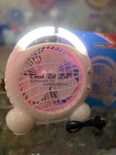 Quạt Tích Điện Có Đèn 2in1 JR55000