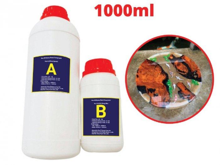 Keo đổ Nhựa Trong Suốt Epoxy Resin Ultra Clear DTAB 1kg  - MSN388341