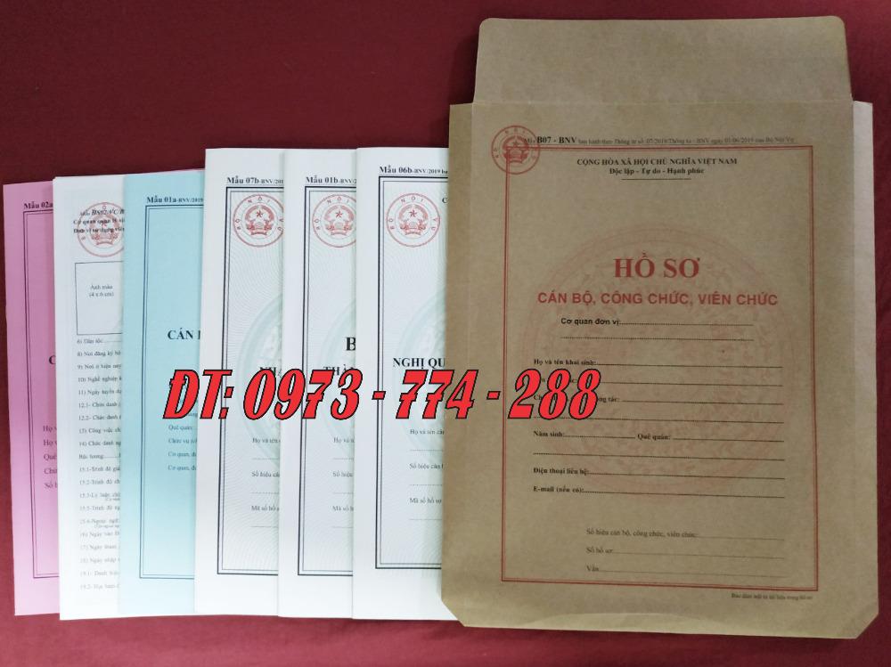 Bán sơ yếu lý lịch cán bộ công chức viên chức mẫu 2a-BNV/ TT072