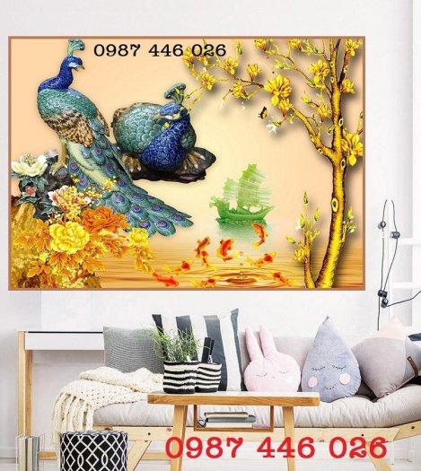Gạch 3d tranh chim công đẹp HP42192`8