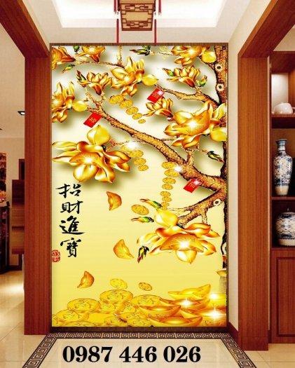 Gạch tranh cây tiền lộc vàng HP60217