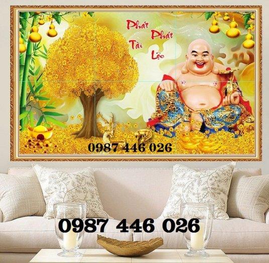 Gạch tranh cây tiền lộc vàng HP60213