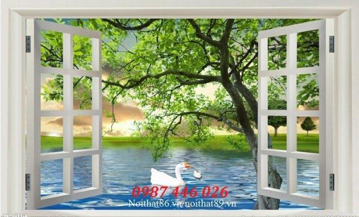 Tranh gạch cửa sổ tạo chiều sâu không gian HP610211