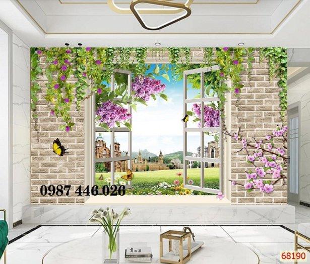 Tranh gạch cửa sổ tạo chiều sâu không gian HP61023