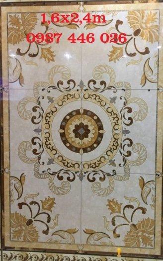 Gạch thảm trang trí hoa văn phòng khách 3d lát nền HP720110