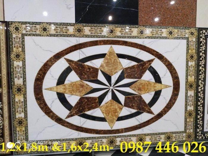 Gạch thảm trang trí hoa văn phòng khách 3d lát nền HP72018