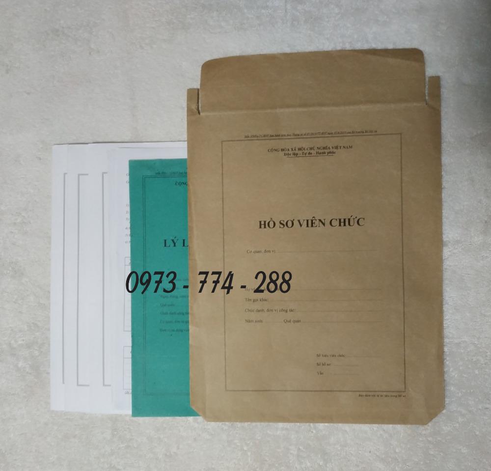 Bán vỏ hồ sơ viên chức tt072