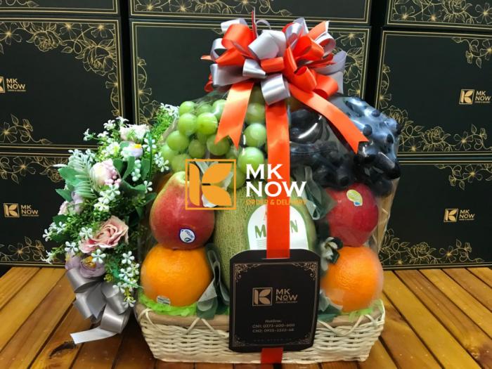 Mẫu mới 2021: Giỏ trái cây mừng khai trương - FSNK55 - MKnow.vn - 0373 600 6003