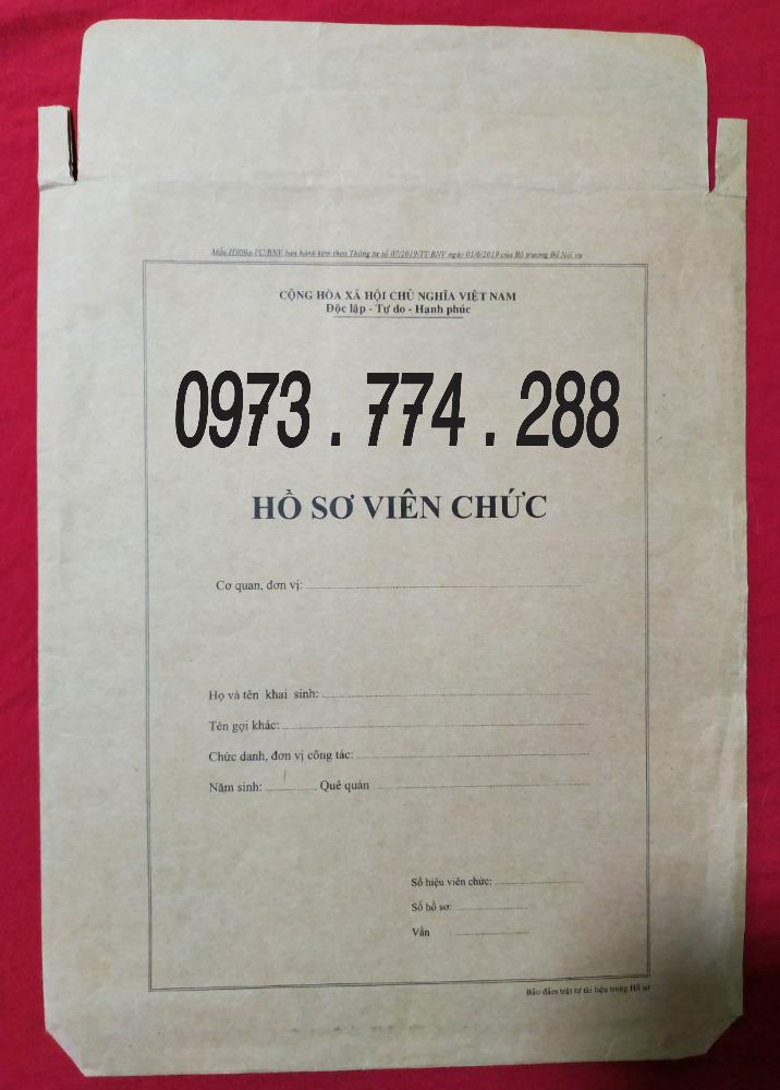 Bán vỏ hồ sơ viên chức tt070