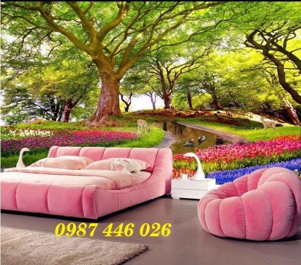 Gạch tranh, gạch ốp tường, tranh trang trí phòng khách đẹp HP0318