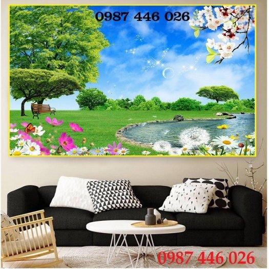 Gạch tranh, gạch ốp tường, tranh trang trí phòng khách đẹp HP0316