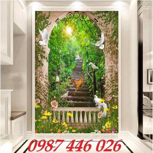 Gạch tranh, gạch ốp tường, tranh trang trí phòng khách đẹp HP0315