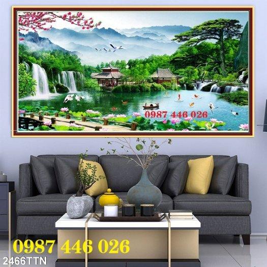 Gạch tranh, gạch ốp tường, tranh trang trí phòng khách đẹp HP0313