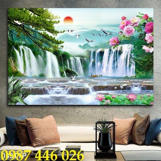 Gạch tranh, gạch ốp tường, tranh trang trí phòng khách đẹp HP0311