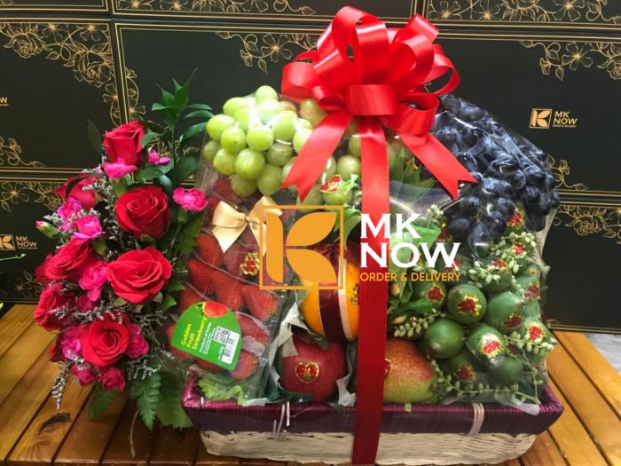 Lẵng hoa quả dạm ngõ - FSNK242   MKnow.vn - 0373 600 6000
