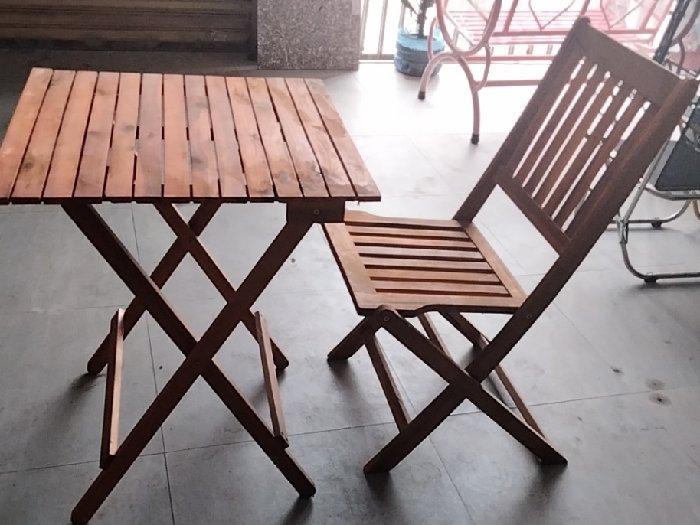 Bàn ghế cafe gỗ xếp cao giá sỉ tại xưởng1