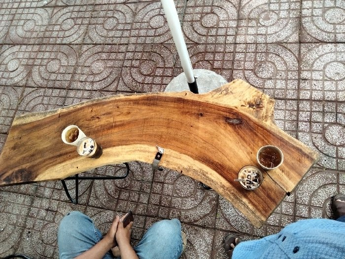Bàn gỗ me tây 1.4 m giá sỉ tại xưởng sản0