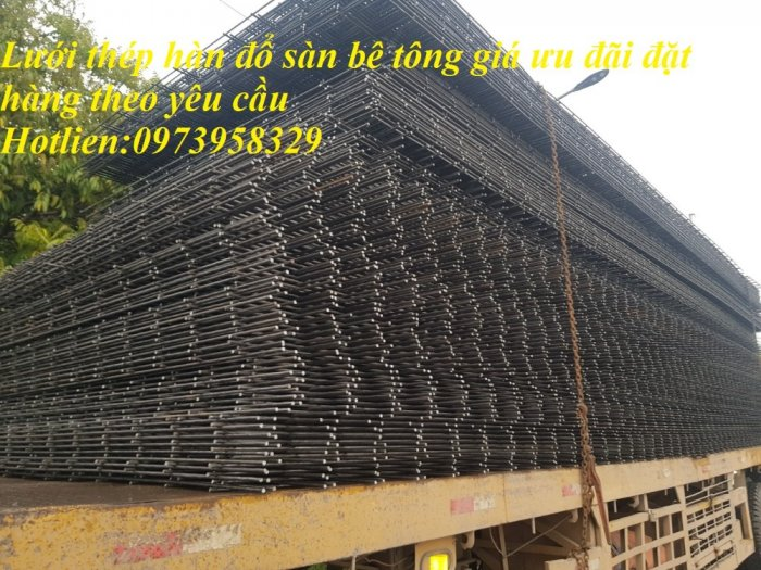 Lưới thép hàn đổ sàn bên tông phi 4 , phi 5 , phi 6, phi 7 , phi 8, phi 9, phi 10, phi 11 ,phi 12 ( 100*100),(150*150),(200*200),(250*250)18