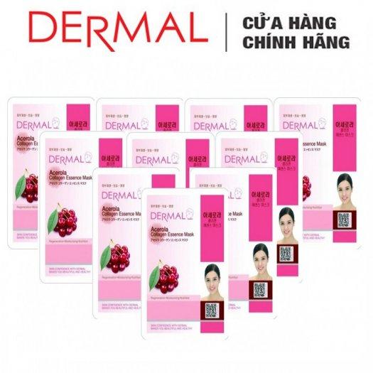 Mặt Nạ Dermal Tinh Chất Sơri Ngăn Ngừa Lão Hóa Da Acerola Collagen Essence Mask 23g - 10 Miếng3