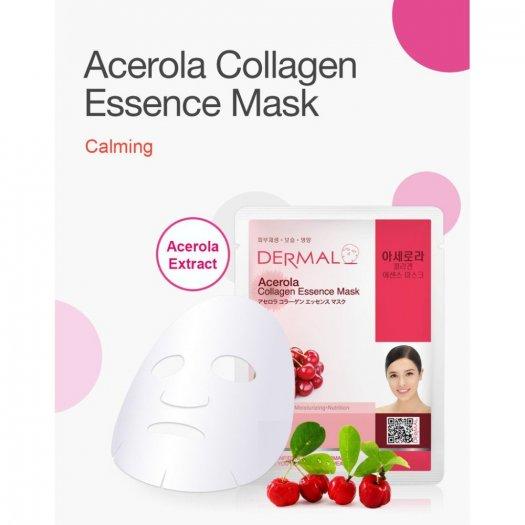 Mặt Nạ Dermal Tinh Chất Sơri Ngăn Ngừa Lão Hóa Da Acerola Collagen Essence Mask 23g - 10 Miếng1