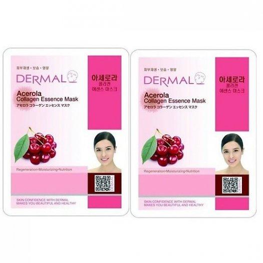 Mặt Nạ Dermal Tinh Chất Sơri Ngăn Ngừa Lão Hóa Da Acerola Collagen Essence Mask 23g - 10 Miếng0